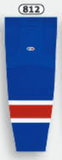 Athletic Knit (AK) HS2100-812 New York Rangers Royal Blue Mesh Cut & Sew Ice Hockey Socks