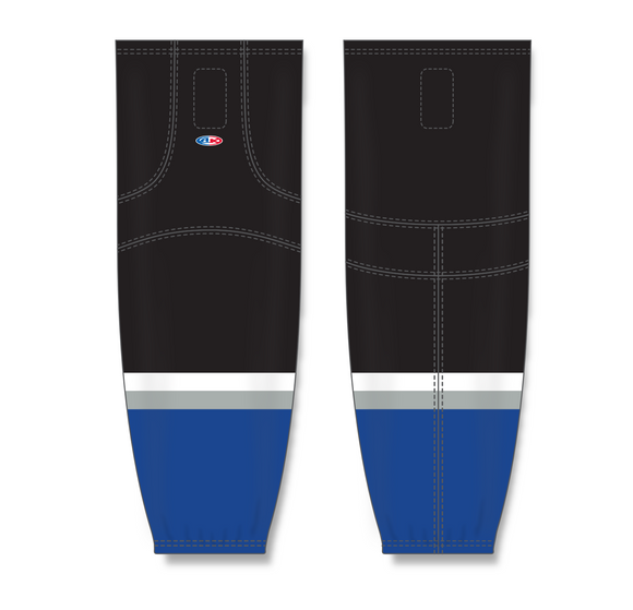 Athletic Knit (AK) HS2100 2009 Tampa Bay Lightning Third Royal Blue Mesh Cut & Sew Ice Hockey Socks - PSH Sports