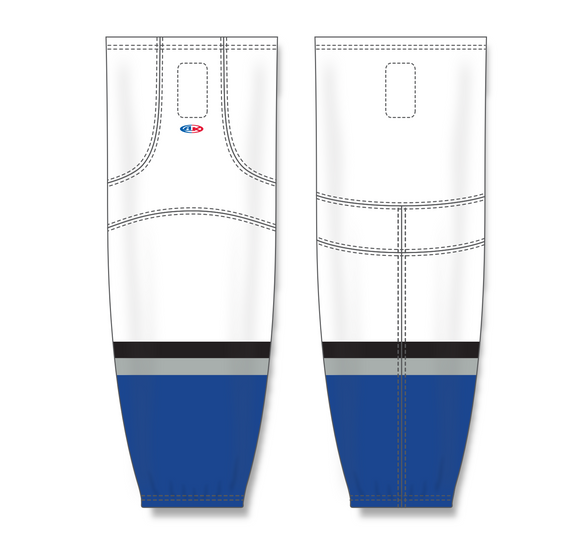 Athletic Knit (AK) HS2100 2009 Tampa Bay Lightning Third White Mesh Cut & Sew Ice Hockey Socks - PSH Sports