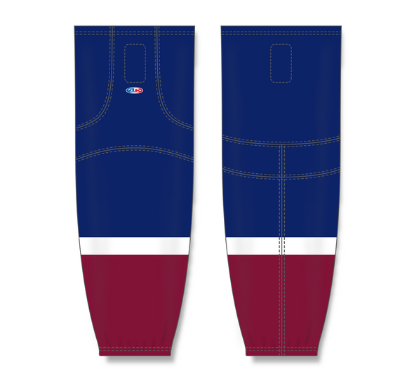 Athletic Knit (AK) HS2100 2015 Colorado Avalanche Third Navy Mesh Cut & Sew Ice Hockey Socks - PSH Sports