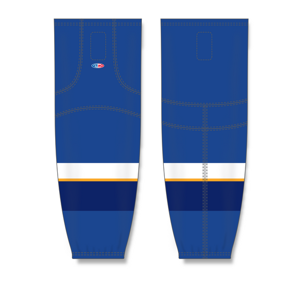 Athletic Knit (AK) HS2100 2011 St. Louis Blues Royal Blue Mesh Cut & Sew Ice Hockey Socks - PSH Sports