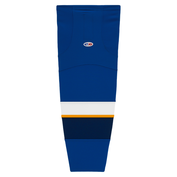 Athletic Knit (AK) HS2100-846 2011 St. Louis Blues Royal Blue Mesh Cut & Sew Ice Hockey Socks