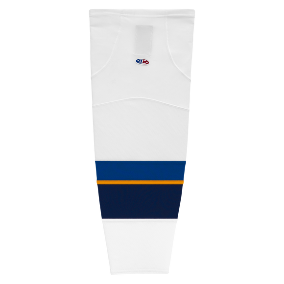 Athletic Knit (AK) HS2100-847 2011 St. Louis Blues White Mesh Cut & Sew Ice Hockey Socks