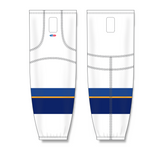 Athletic Knit (AK) HS2100 2011 St. Louis Blues White Mesh Cut & Sew Ice Hockey Socks - PSH Sports