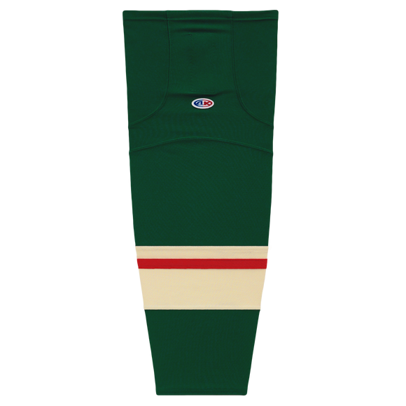 Athletic Knit (AK) HS2100-860 2017 Minnesota Wild Dark Green Mesh Cut & Sew Ice Hockey Socks