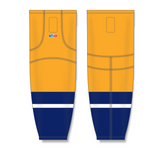 Athletic Knit (AK) HS2100 2013 Nashville Predators Gold Mesh Cut & Sew Ice Hockey Socks - PSH Sports