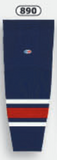 Athletic Knit (AK) HS2100-890 2010 Columbus Blue Jackets Navy Mesh Cut & Sew Ice Hockey Socks