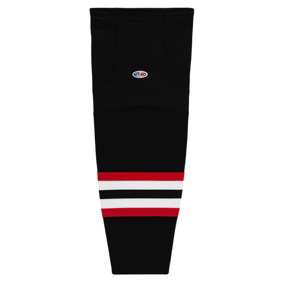 Athletic Knit (AK) HS2100 2009 Ottawa Senators Third Black Mesh Cut & Sew Ice Hockey Socks