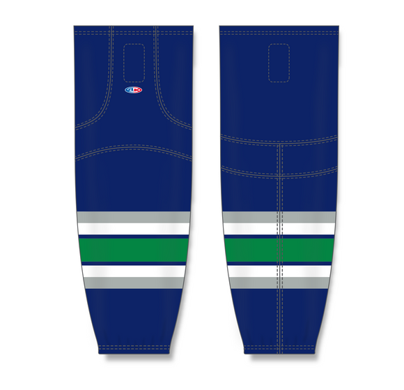 Athletic Knit (AK) HS2100 Hartford Whalers Navy Mesh Cut & Sew Ice Hockey Socks - PSH Sports