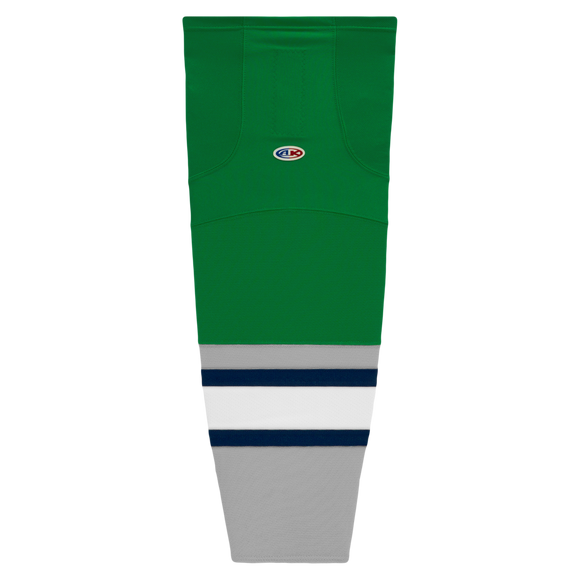 Athletic Knit (AK) HS2100-945 Plymouth Whalers Kelly Green Mesh Cut & Sew Ice Hockey Socks