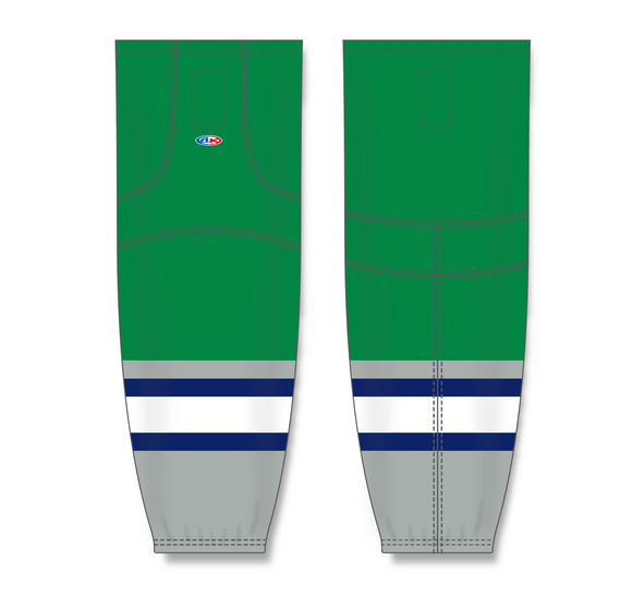 Athletic Knit (AK) HS2100 Plymouth Whalers Kelly Green Mesh Cut & Sew Ice Hockey Socks - PSH Sports