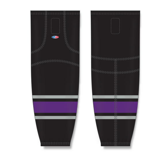 Athletic Knit (AK) HS2100 1998 Los Angeles Kings Black Mesh Cut & Sew Ice Hockey Socks - PSH Sports