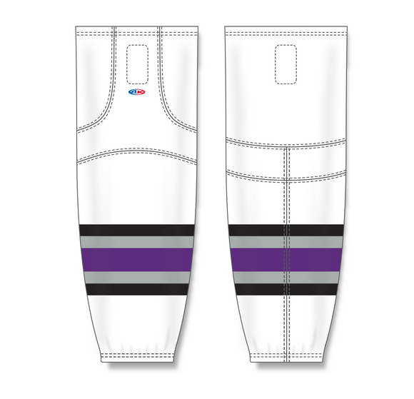 Athletic Knit (AK) HS2100 1998 Los Angeles Kings White Mesh Cut & Sew Ice Hockey Socks - PSH Sports