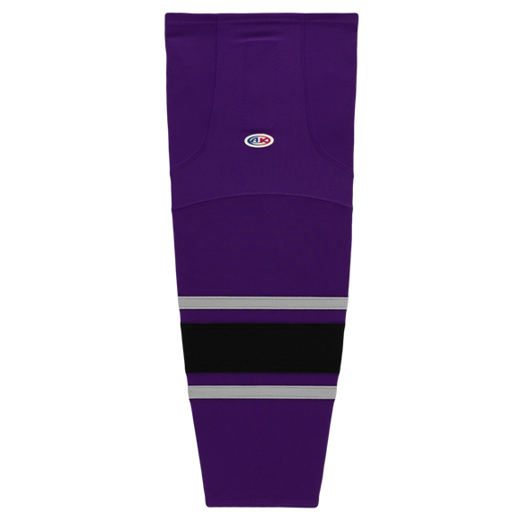 Athletic Knit (AK) HS2100-953 New Los Angeles Kings Third Purple Mesh Cut & Sew Ice Hockey Socks