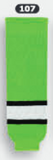 Athletic Knit (AK) HS630-107 Lime Green/Black/White Knit Ice Hockey Socks