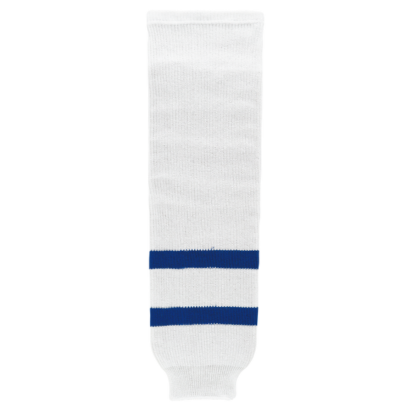 Athletic Knit (AK) HS630 Old Toronto Maple Leafs White Knit Ice Hockey Socks