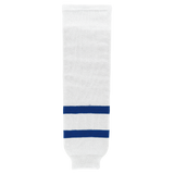 Athletic Knit (AK) HS630-205 Old Toronto Maple Leafs White Knit Ice Hockey Socks