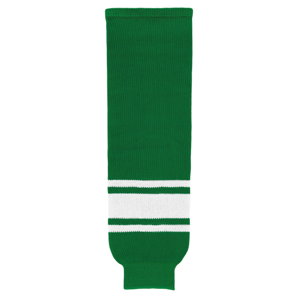 Athletic Knit (AK) HS630-210 Toronto St. Pats Kelly Green/White Knit Ice Hockey Socks