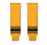 Athletic Knit (AK) HS630 Gold/Black Knit Ice Hockey Socks - PSH Sports
