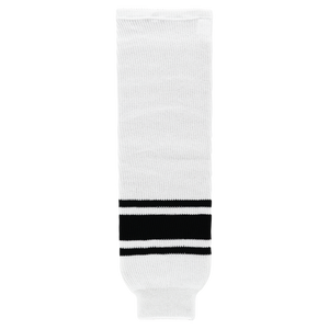 Athletic Knit (AK) HS630-222 White/Black Knit Ice Hockey Socks