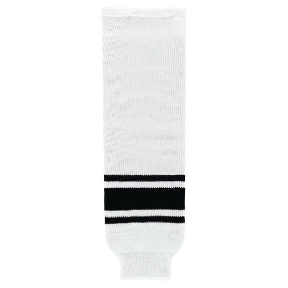 Athletic Knit (AK) HS630 White/Black Knit Ice Hockey Socks