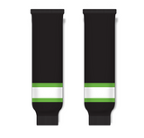 Athletic Knit (AK) HS630 Black/Lime Green/White Knit Ice Hockey Socks - PSH Sports