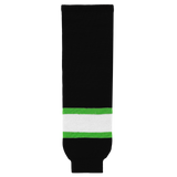 Athletic Knit (AK) HS630-247 Black/Lime Green/White Knit Ice Hockey Socks