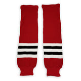 Athletic Knit (AK) HS630-304 Chicago Blackhawks Red Knit Ice Hockey Socks