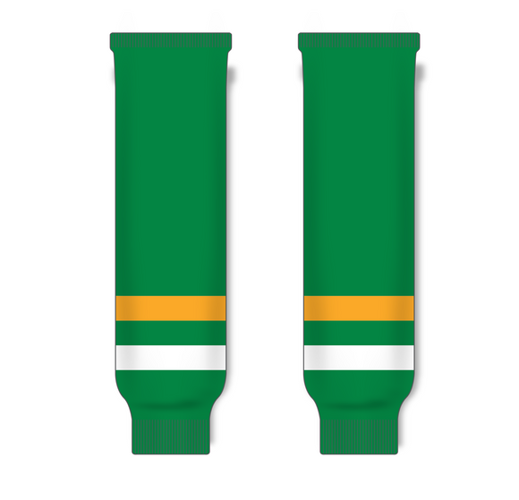 Athletic Knit (AK) HS630 Old Minnesota North Stars Kelly Green Knit Ice Hockey Socks - PSH Sports