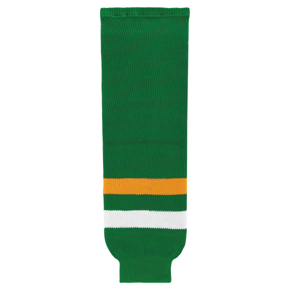 Athletic Knit (AK) HS630 Old Minnesota North Stars Kelly Green Knit Ice Hockey Socks