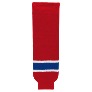 Athletic Knit (AK) HS630-308 Montreal Canadiens Red Knit Ice Hockey Socks
