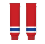 Athletic Knit (AK) HS630 Montreal Canadiens Red Knit Ice Hockey Socks - PSH Sports