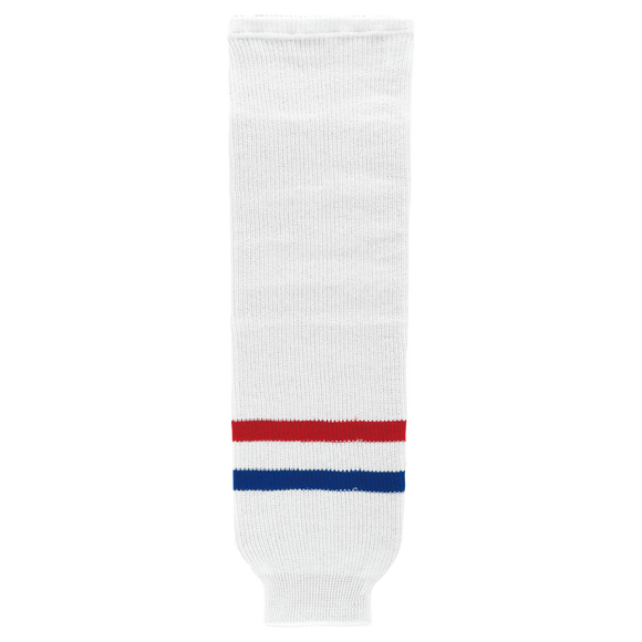 Athletic Knit (AK) HS630-309 Montreal Canadiens White Knit Ice Hockey Socks