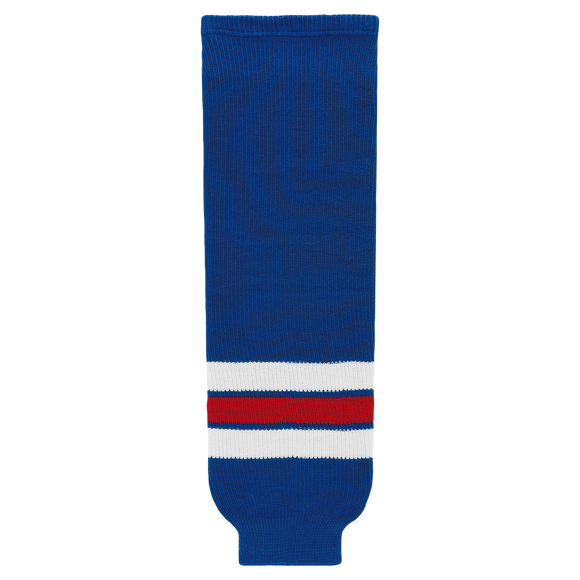 Athletic Knit (AK) HS630-312 New York Rangers Royal Blue Knit Ice Hockey Socks