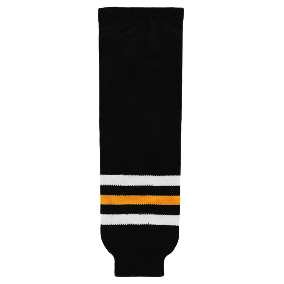 Athletic Knit (AK) HS630-314 Pittsburgh Penguins Black Knit Ice Hockey Socks