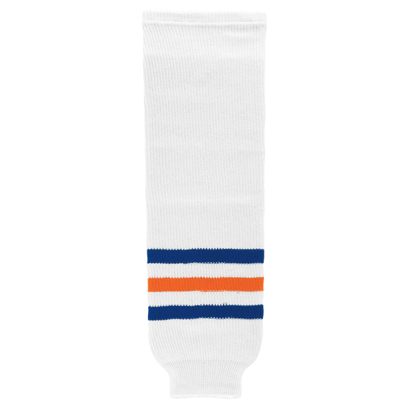 Athletic Knit (AK) HS630-321 Edmonton Oilers White Knit Ice Hockey Socks