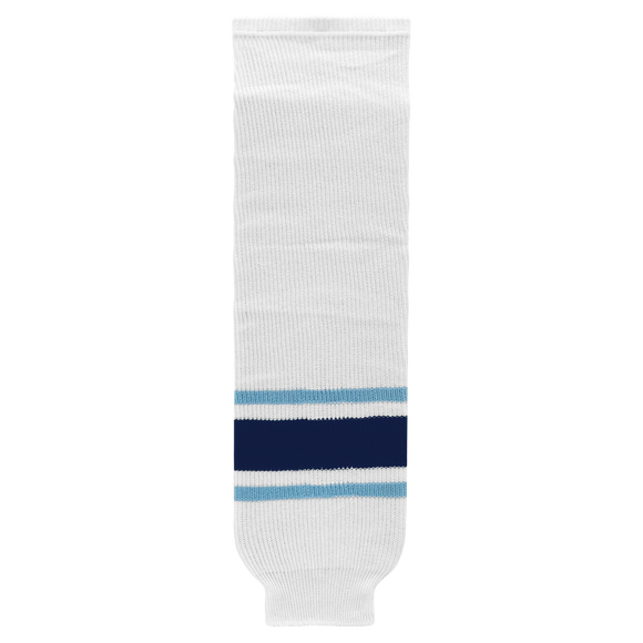 Athletic Knit (AK) HS630-341 University of Maine Black Bears White Knit Ice Hockey Socks