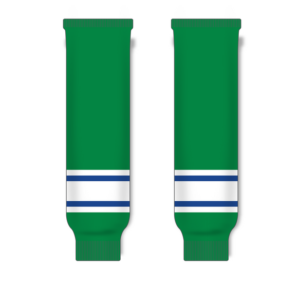 Athletic Knit (AK) HS630 Kelly Green/Royal Blue/White Knit Ice Hockey Socks - PSH Sports