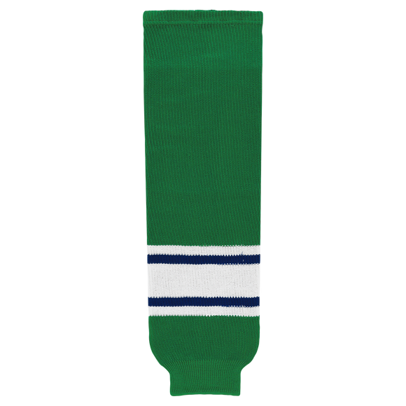 Athletic Knit (AK) HS630-347 Kelly Green/Royal Blue/White Knit Ice Hockey Socks