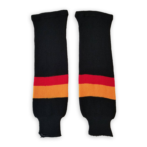 Athletic Knit (AK) HS630 Vancouver Canucks Black Knit Ice Hockey Socks