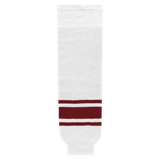 Athletic Knit (AK) HS630-363 Arizona Coyotes White Knit Ice Hockey Socks