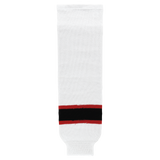Athletic Knit (AK) HS630-367 New Jersey Devils White Knit Ice Hockey Socks