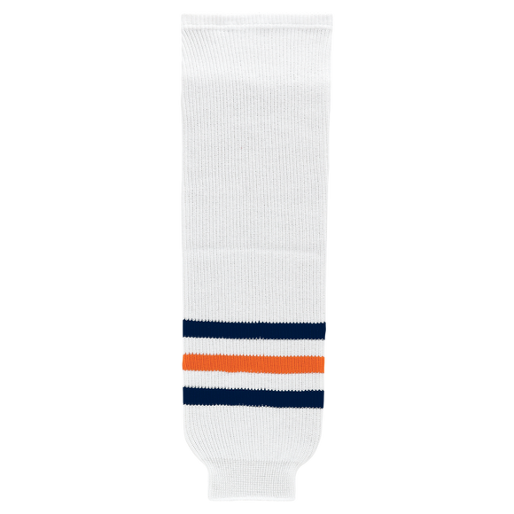 Athletic Knit (AK) HS630-371 2017 Edmonton Oilers White Knit Ice Hockey Socks