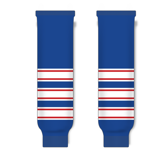 Athletic Knit (AK) HS630 Hockey Hall of Fame Legends Royal Blue Knit Ice Hockey Socks - PSH Sports