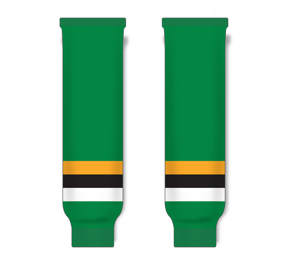 Athletic Knit (AK) HS630 Minnesota North Stars Kelly Green with Black Stripe Ice Hockey Socks - PSH Sports
