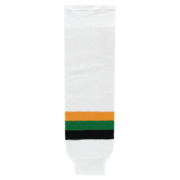 Athletic Knit (AK) HS630-407 Minnesota North Stars White with Black Stripe Ice Hockey Socks