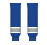 Athletic Knit (AK) HS630 Royal Blue/Grey/White Ice Hockey Socks - PSH Sports
