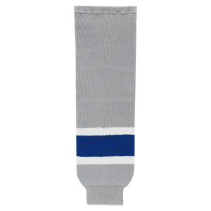 Athletic Knit (AK) HS630-450 Grey/Royal Blue/White Knit Ice Hockey Socks