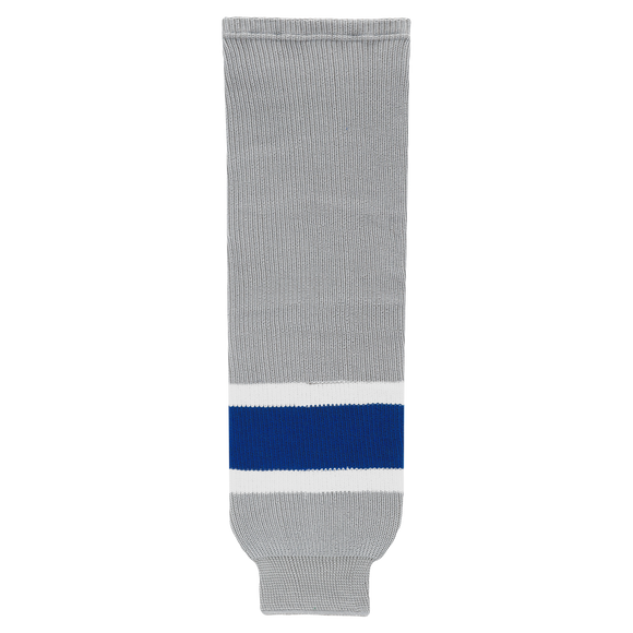 Athletic Knit (AK) HS630 Grey/Royal Blue/White Ice Hockey Socks