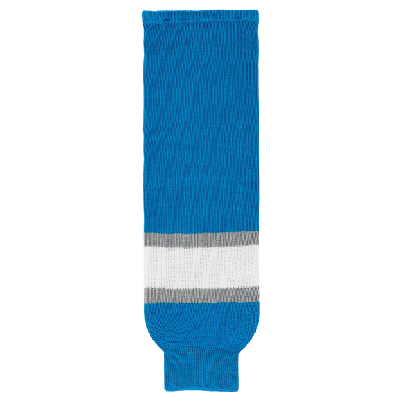 Athletic Knit (AK) HS630-459 Pro Blue/Grey/White Ice Hockey Socks
